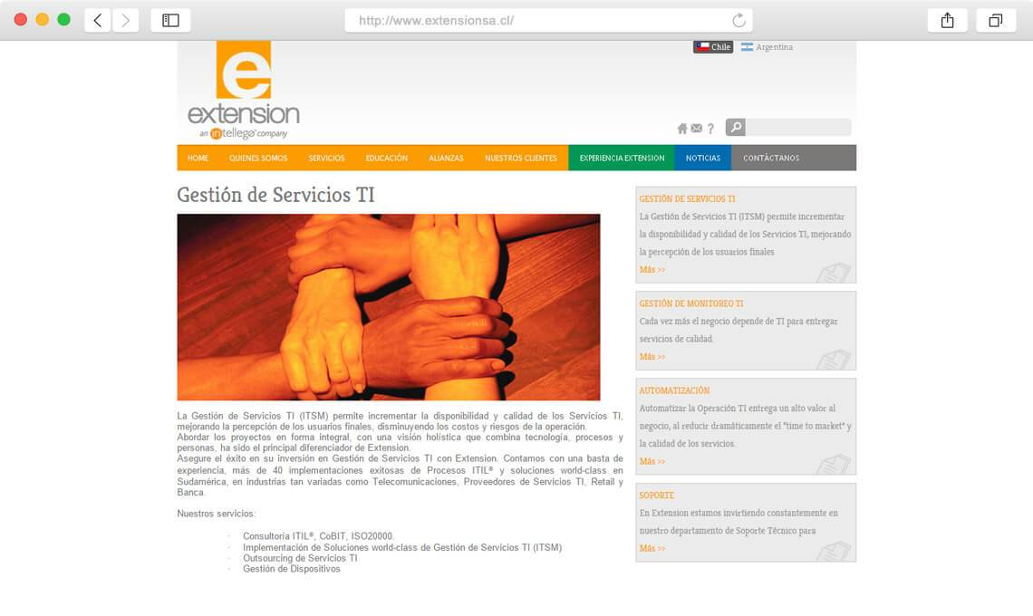 Extension SA / Diseño Web empresa