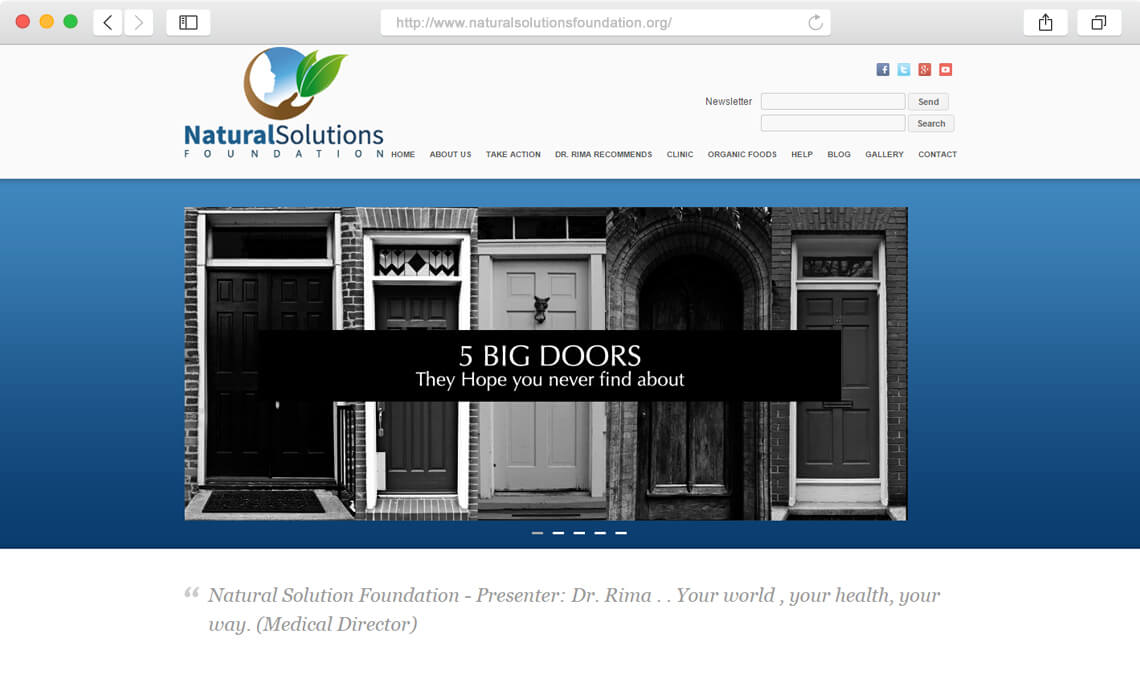 Diseño web corporativo Natural solutions foundation