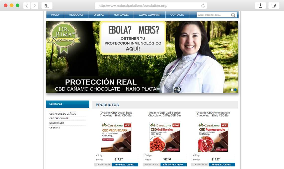Natural solutions foundation / Diseño web corporativo